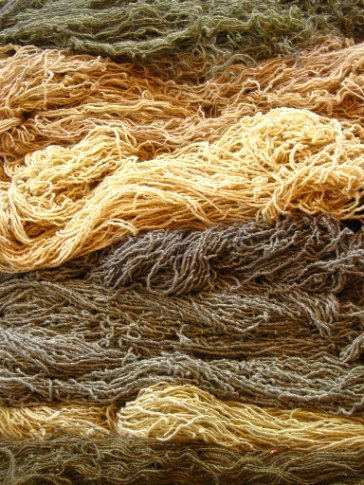 Different shades of hand-dyed wool, Teotitlan del Valle
