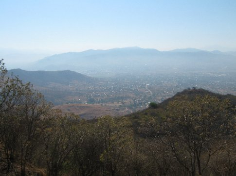 Monte Alban - the view across the valley