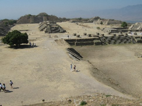 Monte Alban - they levelled off a mountain to build a city miles away from the nearest water source.  These Zapotecans are crazy!