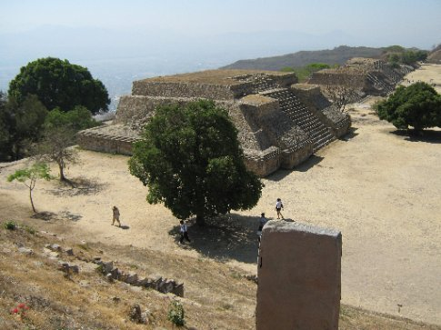 Temples in the main court, Monte Alban