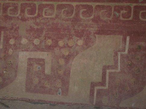 Original plasterwork, Teotihuacan
