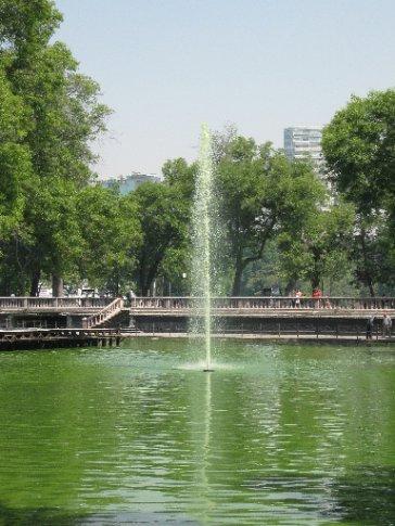Pea soup!  Chapultepec Park.