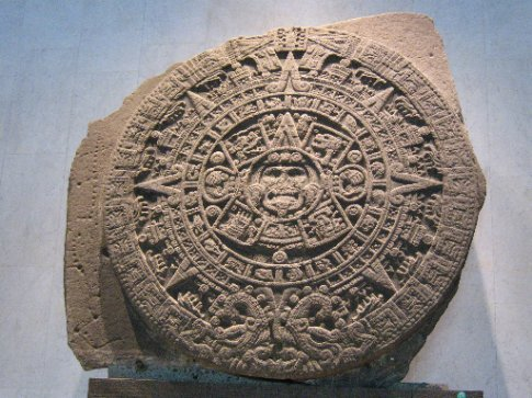 The great Aztec calendar wheel - Museum of Anthropology