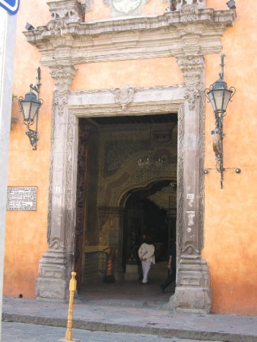 Painted colonial villa, Queretaro