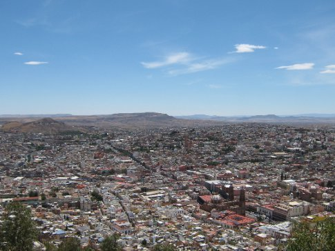 Zacatecas laid out before us, from the cable car