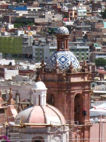 Tiled church steeple, Zacatecas