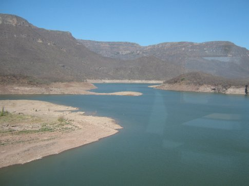 A huge, and nearly dry, reservoir