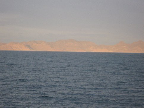 Our last night in Loreto - setting sun on the islands