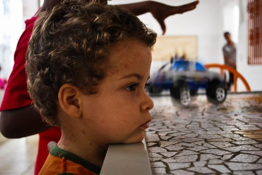 In his orphanage in Salvador, Brazil, Mateus is able to find a moment of serenity in hours of chaos