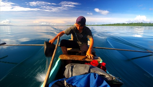 Island Bound: Villages scattered along palm fringed beaches, the only way home is via outrigger canoe. At age 14  Farja Man has an enormous responsibility of transporting weekly essentials to his village.