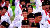: Selemat Hari Merdeka. Happy Freedom Day.  Mischievous youths burst with pride at the Independence day ceremony, eager to raise the flag and sing for their Nation.: by rachelrobertson, Views[724]