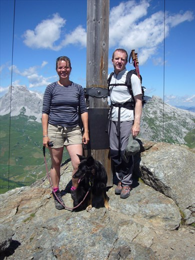 Rachel, Hilda and I on the summit of the Reidkopf