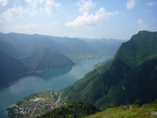 The view to Lake Idro from Mount Censo