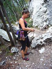 Rachel getting ready to lead a climb near Arco: by rachelsimonanddog, Views[116]