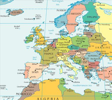 europe and us map