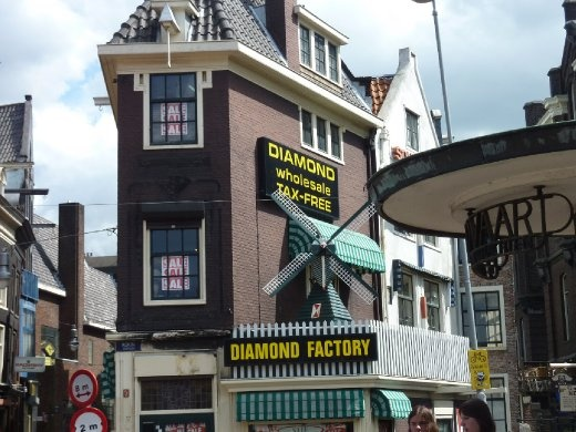 Diamond factory - The Dutch are supposedly famous for their diamonds