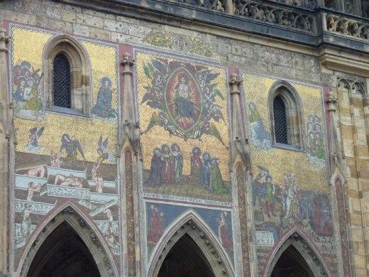 Art work on the castle