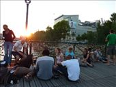 The locals having dinner of the bridge that was made famous because of Carrie and Mr Big: by rachthe1st, Views[405]