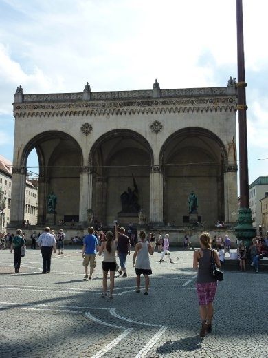 Feldherrnhalle - where Hitler gave his speeches