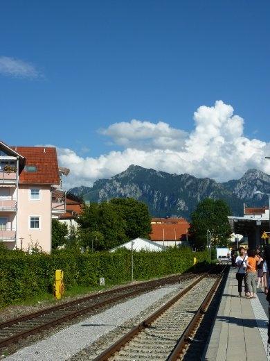 Train station at Fussen - the way to get to Neuschwanstein castle