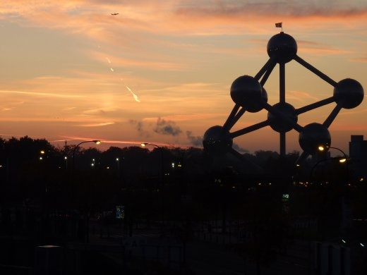 The Atomium built for the world fair. I think the Eiffel Tower may have some competition!