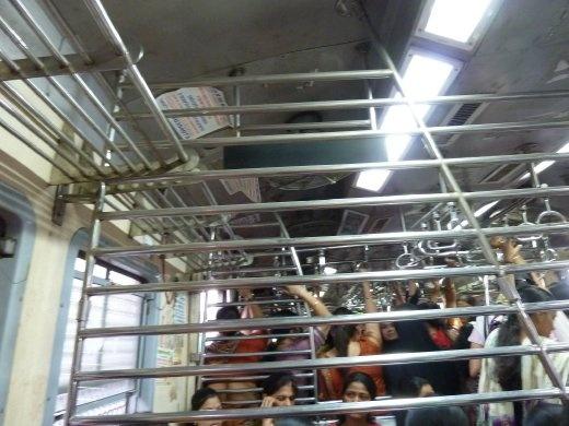 Second class ladies compartment during non-peak hour traffic