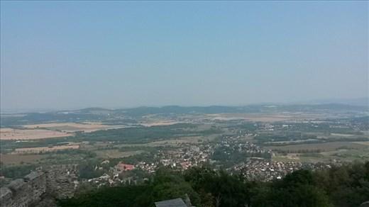 Overlooking a town far away