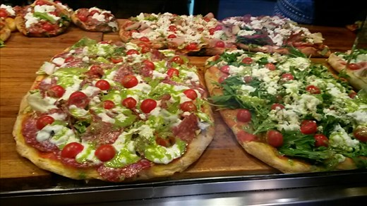 Delicious looking italian pizzas