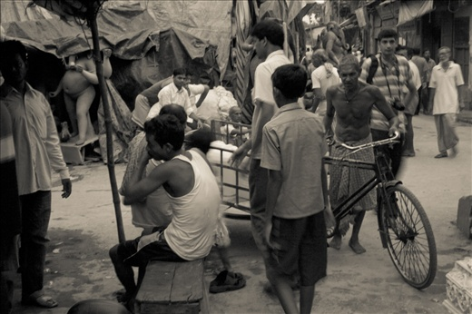 The Busy Lanes and Bylanes of Kumartuli. The down-town for idol-makers. Very busy during the the time of July to September.