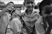 The burmese refugeee children at school all wanting to pose for the camera!: by rajiv85, Views[112]