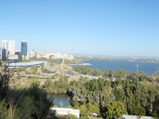 Perth, from Kings Park. This was before I got massively lost in Kings park (and so I was still appreciating things like this view). The next couple pictures are similar.