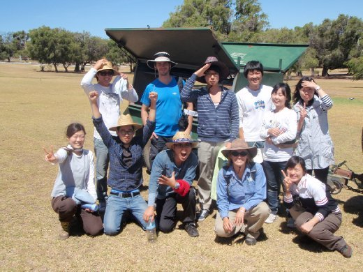 This is my group from the volunteering thing I did. The girl in the front with the hat on is the leader from Reunion Island. The guy behind her (without the hat) is Bolt, who I explored Freemantle with (a city next to Perth, on the coast).