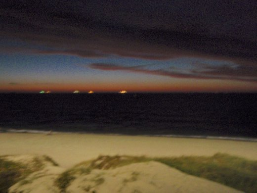 The beach where I was staying after I moved out of the city (Cottesloe Beach)