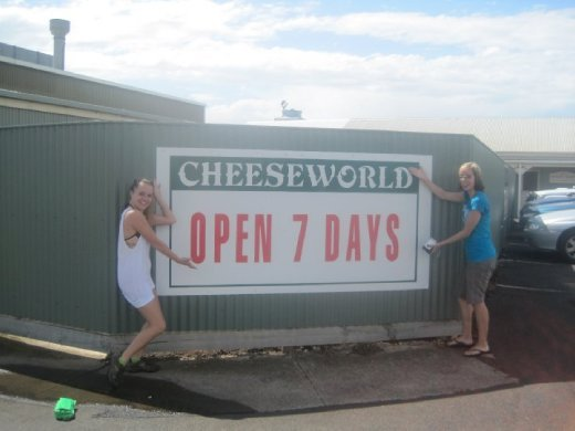 We stopped at Cheese world, and so pretty much all our meals for the weekend included cheese in them. So amazing.