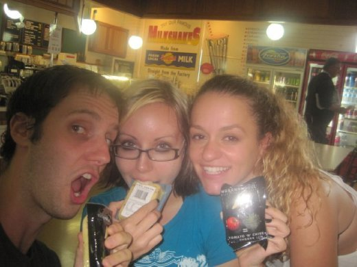 Us with our respective cheeses...