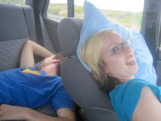 Power nap in the car...