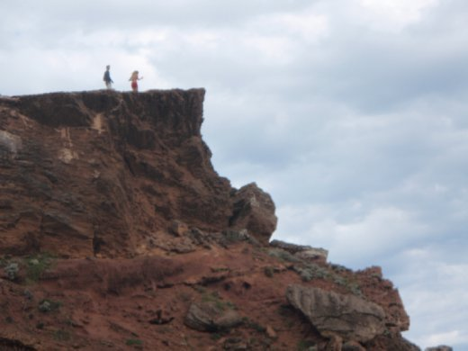 Vic and I up on the Cliff.