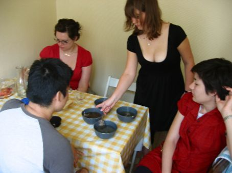 We had tea in bowls. It was awesome.