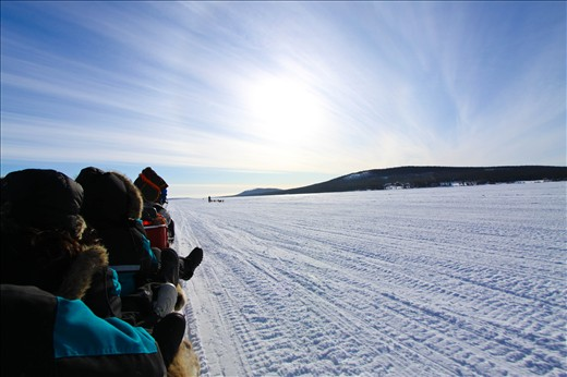On a sapmi moto-ski, first step in Lapland
