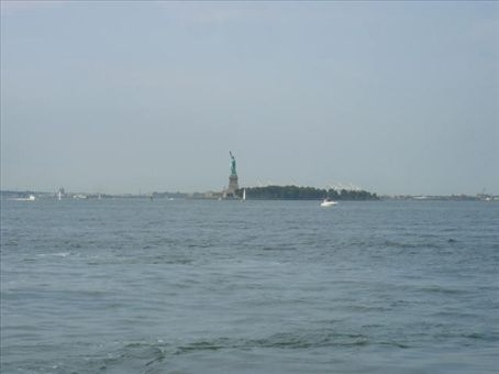 Statue of Liberty out in the bay