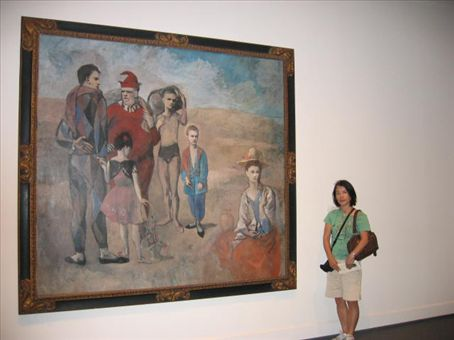 Yasuko with Picasso's Family of Acrobats