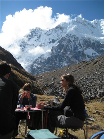 Lunch on the first day - before we made it to 4600 metres
