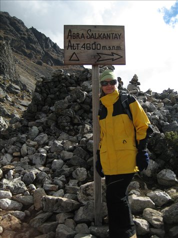 Me at 4600 metres.... damn cold and hurting.... And looking the daggiest I ever have!!! (like I said - not a fashion parade!!)