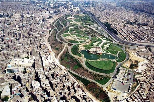 Going to Azhar park in the historic Cairo