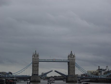 London bridge is falling down, falling down, falling down... except this is the tower bridge - london bridge is much less exciting!