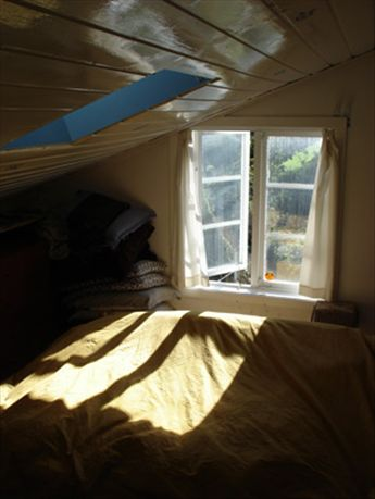 Our bedroom - facing south (fjord, allotment gardens etc)