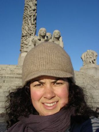 Me at a park in Oslo filled with sculptures by this dude named Vigeland... interesting!