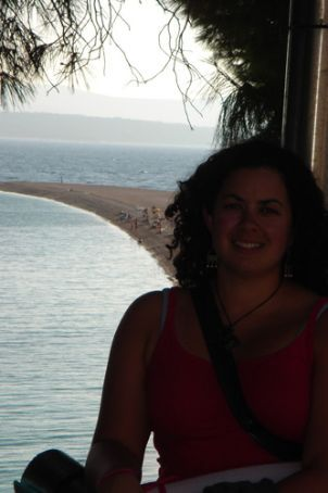 Me overlooking Bol beach - popular with windsurfers and kitesurfers... funnily enough, not so good for swimming!!