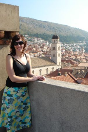 Meg overlooking the old city of Dubrovnik