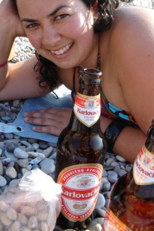 Some of my favourite things: sun, beer and beach
